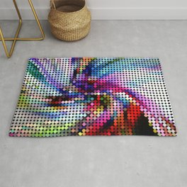 Abstract Colorful Pixel Dots Pattern Rug