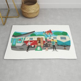 Relic 1 Vintage Travel Trailers, Caravans, Campers and Glamping Art Rug