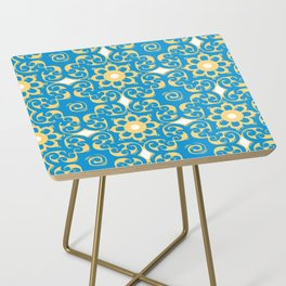 Blue Yellow Boulevard Side Table