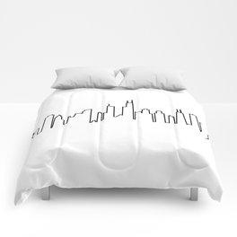 Chicago, Illinois City Skyline Comforters