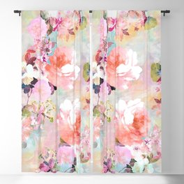 Love of a Flower Blackout Curtain