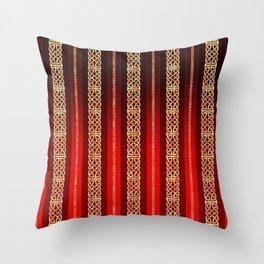 Viking red Throw Pillow