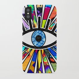 Greek Evil Eye Graffiti Sun Rays iPhone Case