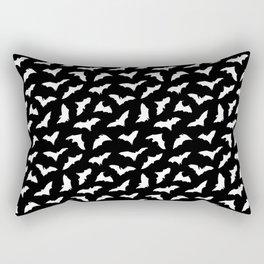 Bats on Black // Halloween Collection Rectangular Pillow