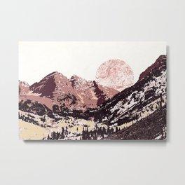 The high northern mountains Metal Print