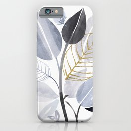 Leaf Party - Watercolor Nature Collage iPhone Case