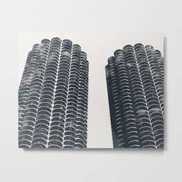 Chicago Architecture, Marina City, Chicago Wall Art, Chicago Art, Chicago Photography, Canvas Art Metal Print