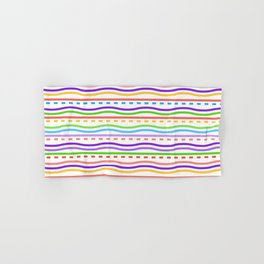 White Optical Lines Hand & Bath Towel