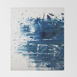 Tranquil: a minimal, abstract piece in blue by Alyssa Hamilton Art Throw Blanket