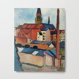 August Macke - St. Mary's with Houses and Chimney Metal Print