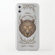 The Bear and Cedar Clear iPhone Case