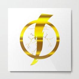 Static Shock Logo Metal Print