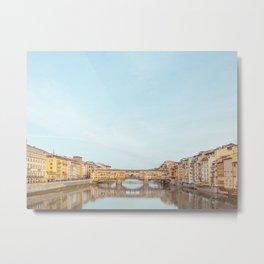 Ponte Vecchio - Florence Italy Travel Photography Metal Print