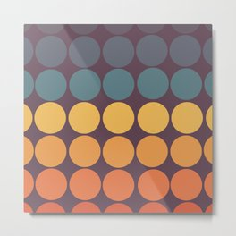 Classic Colorful Freehand Retro Dots Metal Print
