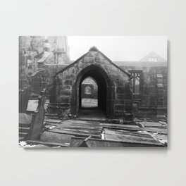 ruined church in the mist Metal Print