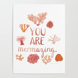 You Are Mermazing Poster