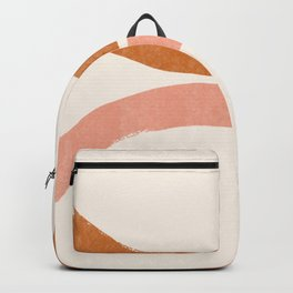 Terracotta Mid Century Abstract Rainbow Arches Backpack