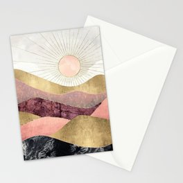 Blush Sun Stationery Cards