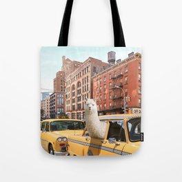 Alpaca in New York Tote Bag