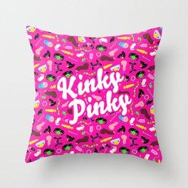 KINKY PINKY Throw Pillow