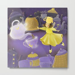 Fairy of Fragnant Tea Metal Print