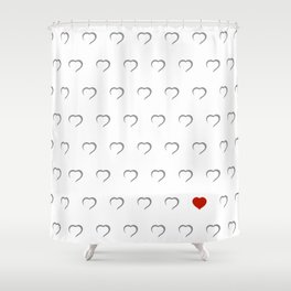Hearts - Classic Red Shower Curtain
