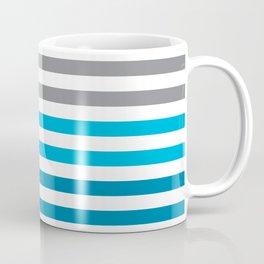 Stripes Gradient - Blue Coffee Mug