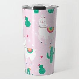 Llamas & Cactus Travel Mug