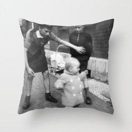 Aufpassen Throw Pillow