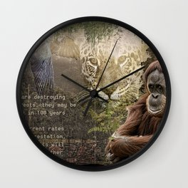 Rain forest Story Wall Clock