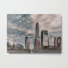 Cityscape, city view, architecture, Shenzhen downtown (China) (2018-6-SHZ5) Metal Print