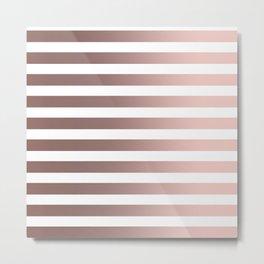 Rose Gold Strip Metal Print