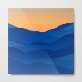 landscape waves Metal Print