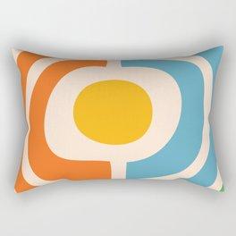Mid Century Modern Solar Flares Pattern 24 Rectangular Pillow