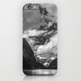 Lake Louise Black and White Minimalism Photography | Black and White | Photography iPhone Case