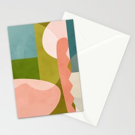 shapes geometry art mid century Stationery Cards