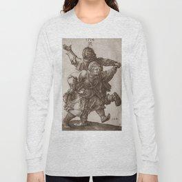 """Albrecht Dürer """"Peasant Couple Dancing"""" Long Sleeve T-shirt"""