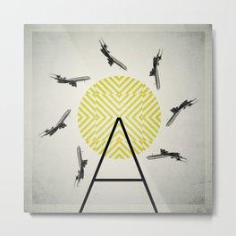 Flywheel (A is for Airplane) Metal Print