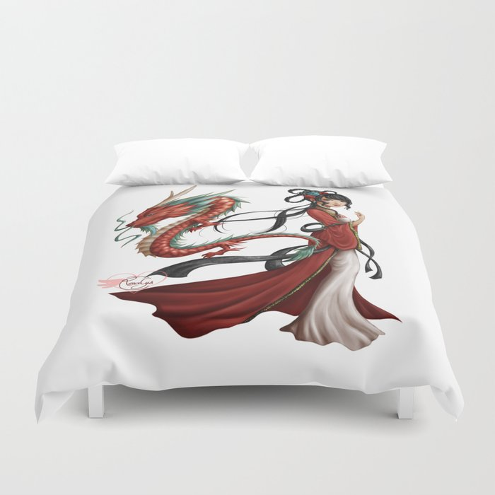 Chinese dragon pure Duvet Cover