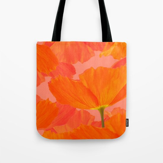 Beautiful Poppies Coral Color Background #decor #society6 #buyart by pivivikstrm