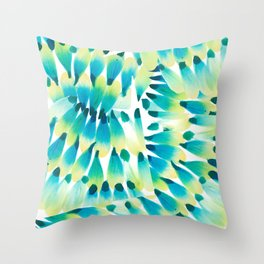 Peacock Brushstrokes Throw Pillow