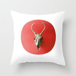 Your Skull is Pink-ish Red Throw Pillow
