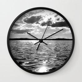 Metallic Waters Wall Clock
