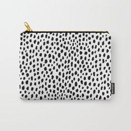 Dalmatian Spots (black/white) Carry-All Pouch
