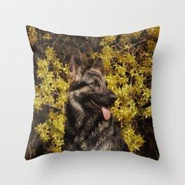 Shepherds love the spring Throw Pillow