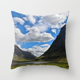 Highland Blue and Green Throw Pillow
