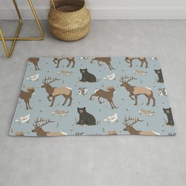 Rocky Mountain Critters Rug