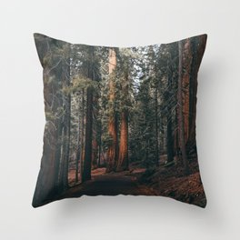 Walking Sequoia Throw Pillow