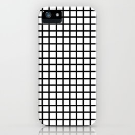 Grid - black and white minimal modern grid pattern print gifts for urban city map map art iPhone Case