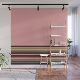 Simple, striped pattern, stripes, bright, striped background, multicolored, creative, elegant Wall Mural